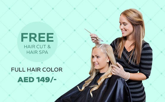 hair color salon in dubai